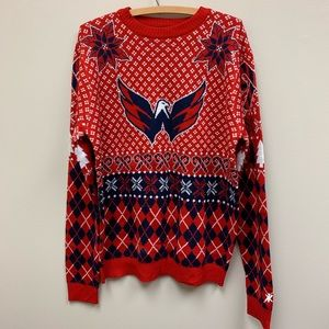 NHL Washington Capitals Ugly Christmas sweater red